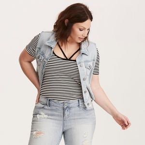 Torrid Striped Strappy Tee